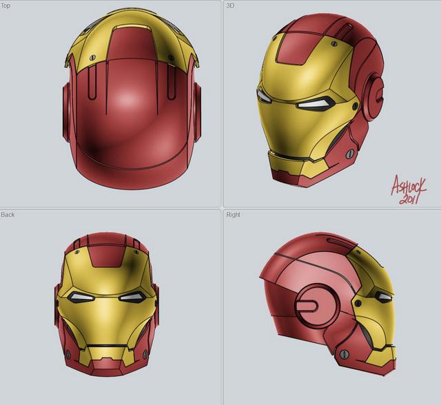 Plano del casco de ironman - Imagui